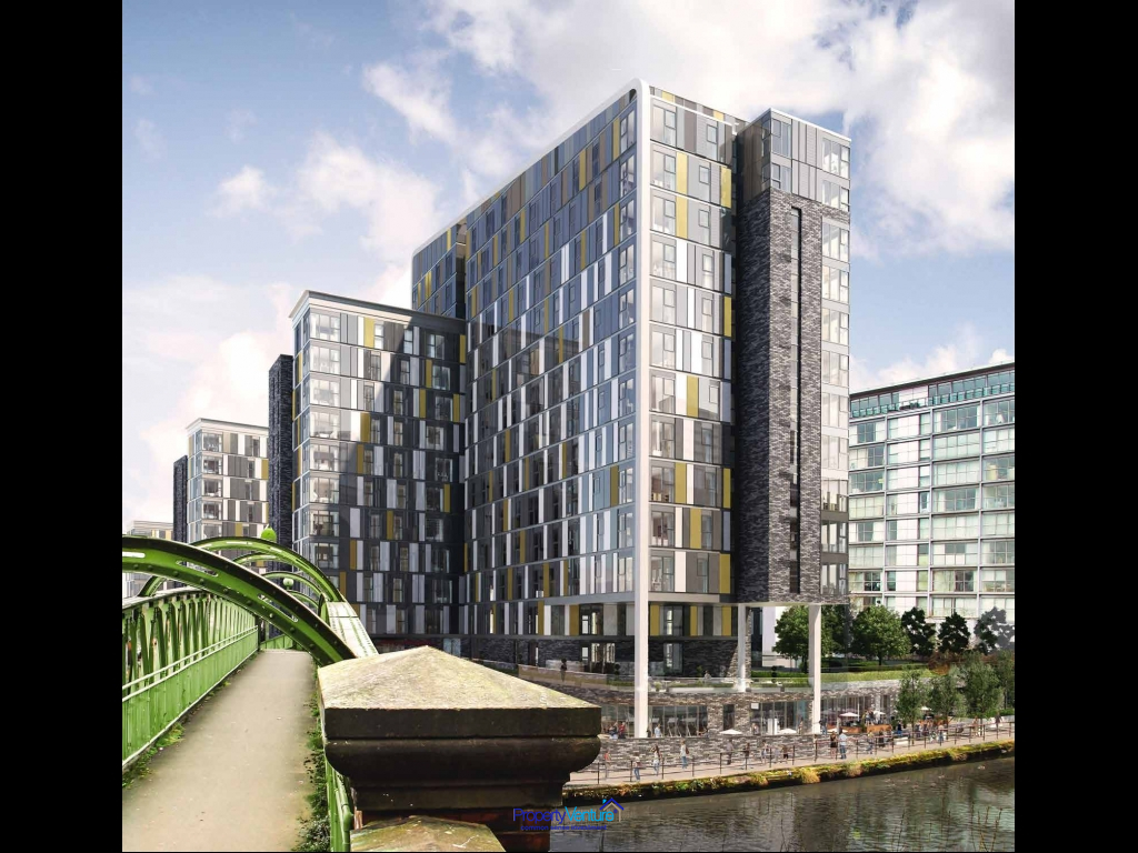 Waterside, modern, airy central Manchester property