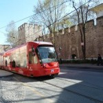 Istanbul infrastructure tram-topkapi Palace