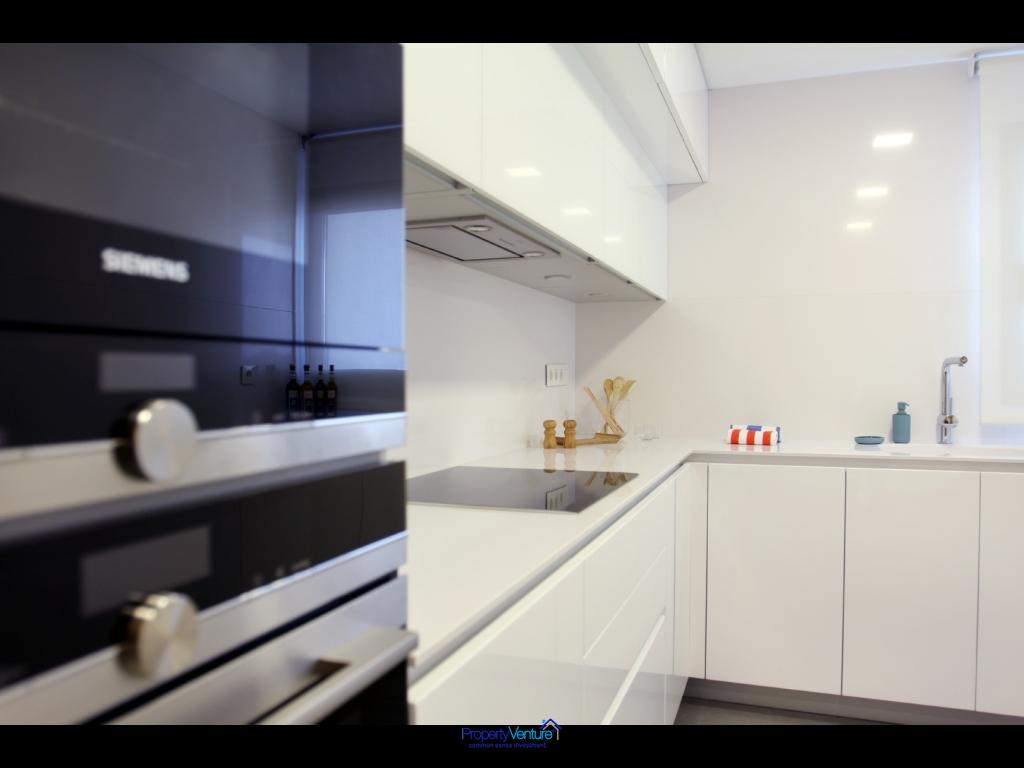 Modern seaview apartment kitchen