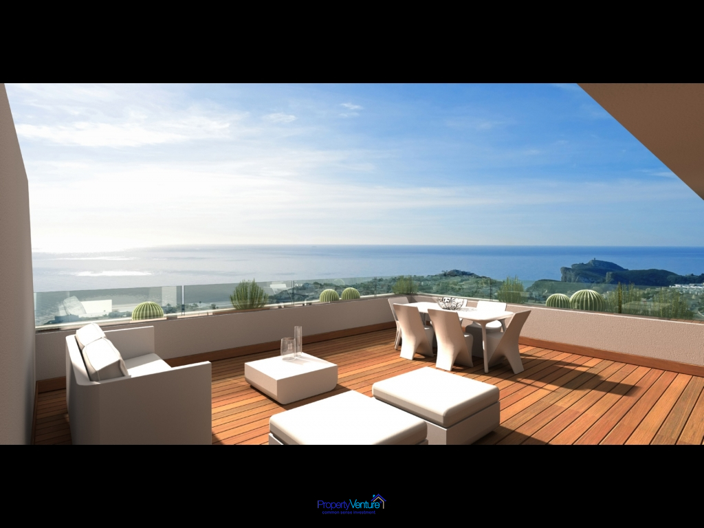 Infinity Mediterranean views from Spanish penthouse
