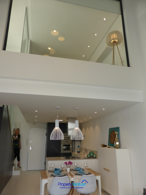 Glass-walled townhouse