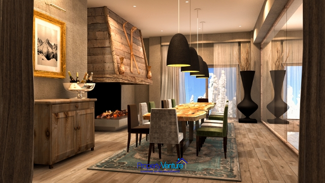 Courchevel investment ski apartment with usage