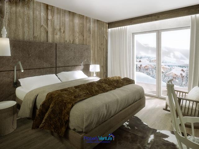 French ski home with mountain views